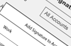 Signature setup wireframe