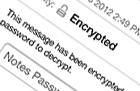 Encrypted email message prompting user for their Notes ID password